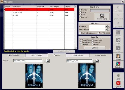 Video rental software